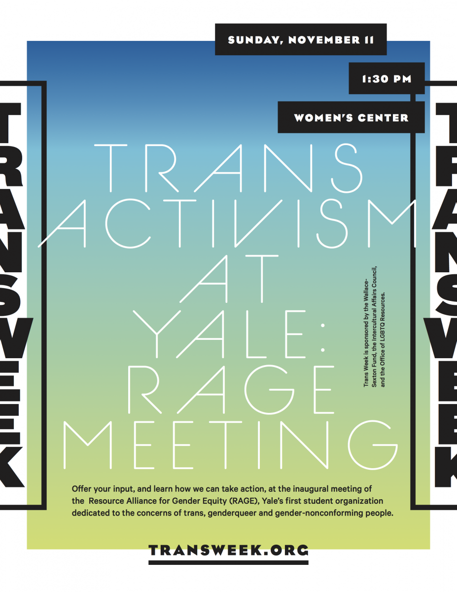 Trans Activism at Yale: RAGE Meeting