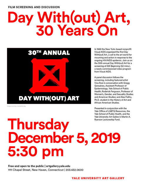Day With(out) Art, 30 Years On: Film Screening & Discussion