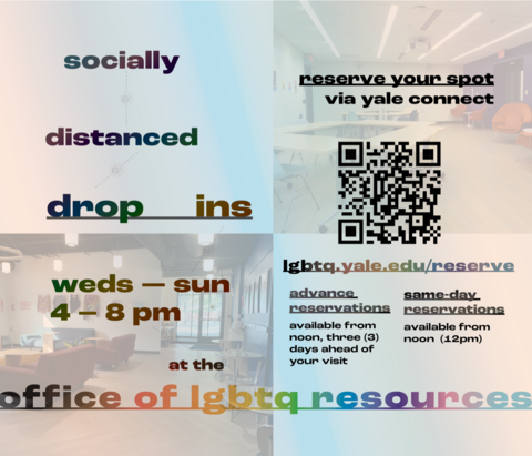 Socially Distanced Drop-ins at the Office of LGBTQ Resources