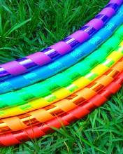 Hoops in colors of the rainbow