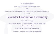 Graduate & Professional Lavender Graduation