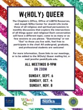 W{Holy} Queer flyer fall 2020