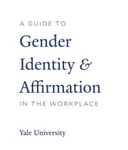 A guide to gender identity and affirmation in the workplace cover